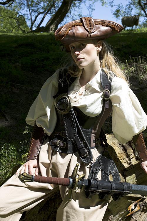Piratenhut - Braun